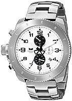 Vestal Men's Restrictor Silver/Silver/Black Brushed Watch from Vestal