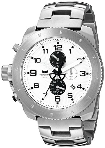 Vestal Men's RES007 Restrictor Silver and White Chronograph Watch