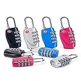 Combination Lock 4 Digit Padlock, TSA Approved Lock for School Gym Locker,Luggage Suitcase Baggage Locks,Filing Cabinets,Toolbox,Case, 2 Pack (Pink)
