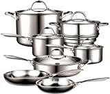 Cooks Standard 12-Piece Multi-Ply Clad Stainless Steel Cookware Set