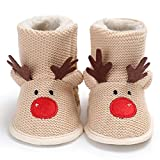 Baby Shoes Girl Bootie,Elk 0-6 Months Kid Christmas 2019 Winter Slip on Anti-Slip Warm Soft Toddler Home Photography