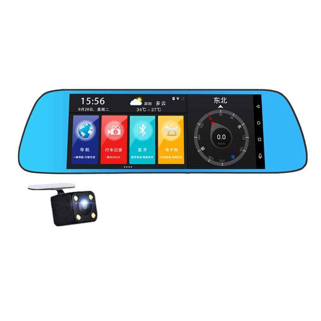 Topker 7inch HD Sreen 3G Bluetooth Rearview Mirror Digital Video Recorder Camcorder for Android Automatic Circulating Video