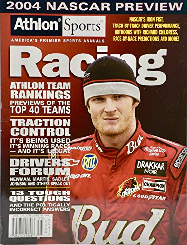 - 2004 - Athlon Sports Magazine - Vol. 2 - Dale Earnhardt Jr Cover - Racing : 2004 NASCAR Preview - Team Rankings - Collectible