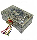 Mother of Pearl Crane Design Jewelry Box Najeonchilgi Master Artian Handcrafted Jewellry Case