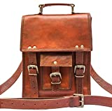 Pascado 11 inch genuine leather crossbody messenger shoulder satchel ipad tablet bag small men womens