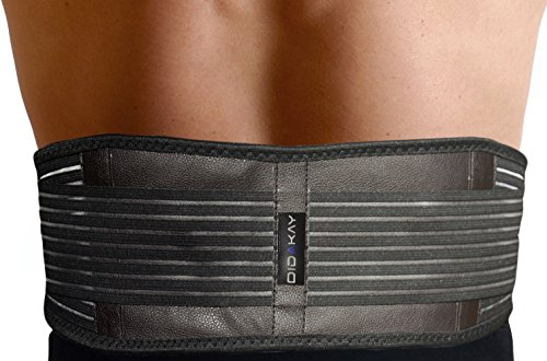 Amazing Back Brace Belt + Free e-Book - Dual Use: Lower Lumbar & Sciatica Support AND Self-heating Acupuncture Magnetic Therapy for Muscles & Circulation for Slim Waist & Menstrual Cramps FDA Approved