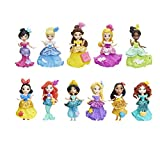 Disney Princess Little Kingdom Doll Collection, 11 Small Dolls with Glitter Dresses and 22 Snap-ins Accessories, Toy for 4 Year Olds and Up (Amazon Exclusive)