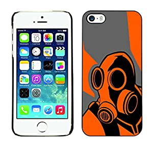 MOBMART Slim Sleek Hard Back Case Cover Armor Shell FORApple iPhone 5 / 5S - Orange Psycho - B0Rderlands Game