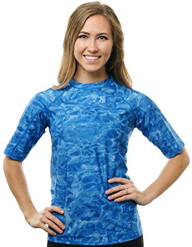 Aqua-Design-Women-Short-Sleeve-Loose-Fit-Sun-Protection-Rash-Guard-Swim-Water-Shirt