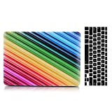 2013-2015 Ver MacBook Pro Retina 15'' Case and Keyboard Cover, AICOO 2-in-1 Beautiful Hard Case Cover With Keyboard Skin Protector For MacBook Pro Retina 15.4 inch A1398, Colorful Twill