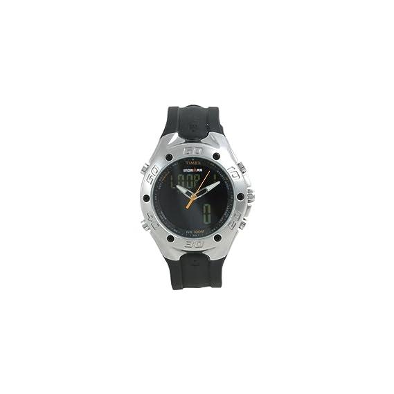 Timex Quarz T56381SU - Reloj de mujer de cuarzo, correa de resina color negro: Amazon.es: Relojes