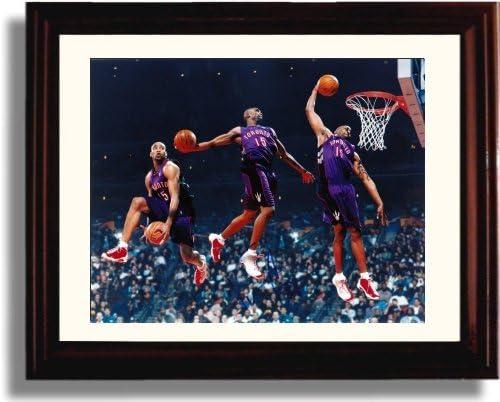 サインフレーム入りVince Carterレプリカ印刷 – Toronto Raptors
