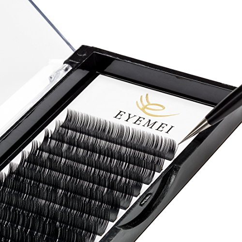 Eyelash Extensions 0.20mm C Curl 9-15mm Mixed Faux Eyelash Extension Supplies Individual Eyelashes Light Professional Salon Use Black False Lashes Mink Lashes Extensions by EYEMEI (0.20-C-MIXED)