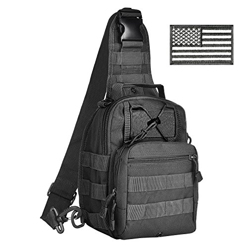 CVLIFE Sling Pack Bag Small Outdoor Tactical Backpack Chest