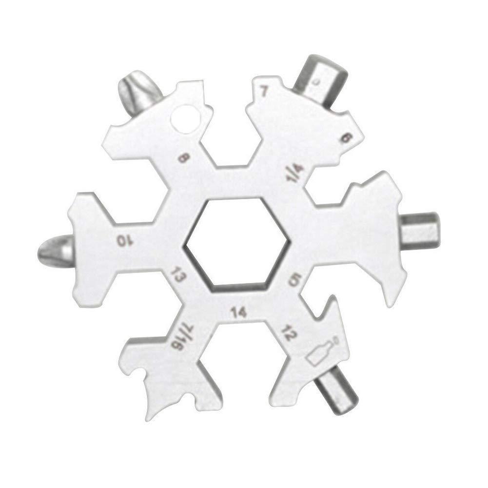 TO_GOO Portable 15-in-1 Snow Keychain Tool Strumento multifunzione portatile da tasca in acciaio inossidabile