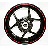AFBA Thin Outer Rim Liner Stripe for Suzuki Yamaha Kawasaki Ducati Aprilia Honda Gloss Red
