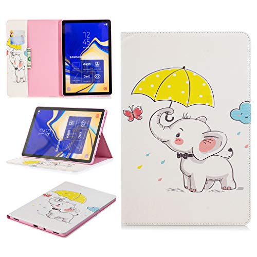 LMFULM? Case for Samsung Galaxy Tab S4 / SM-T830 / T835 / T837 (10.5 Inch) PU Leather Ultra-Thin Magnetic Closure Folding Leather Cover Graffiti Pattern of Bookstyle With Auto Sleep / Wake Function an Color-35