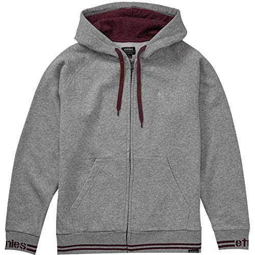 Etnies Men's Johnson Hoody,Large,Grey/Heather (Etnies Mens Sweatshirt)