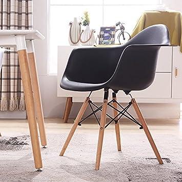 FEILILAI Eames Silla sillas de plástico Minimalista Moderno ...