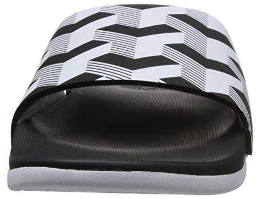 adidas Men's Adilette CF+ Link GR, Black/White, 9.5 M US