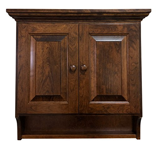 Hope Woodworking Wooden Medicine Cabinet Made in Solid Cherry Wood with Asbury ()