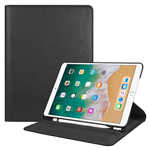 Fintie iPad Pro 10.5 Case with Built-in Pencil Holder - Multiple Angles Stand Protective Cover with Auto Sleep/Wake Feature for iPad Pro 10.5 Inch 2017 Release, Black