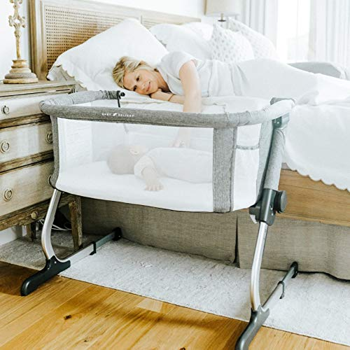 Baby Delight Beside Me Dreamer Bassinet & Bedside Sleeper, Charcoal Tweed