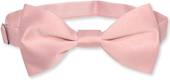 Pink Boys Pre-Tied Bow Tie Gray Orange