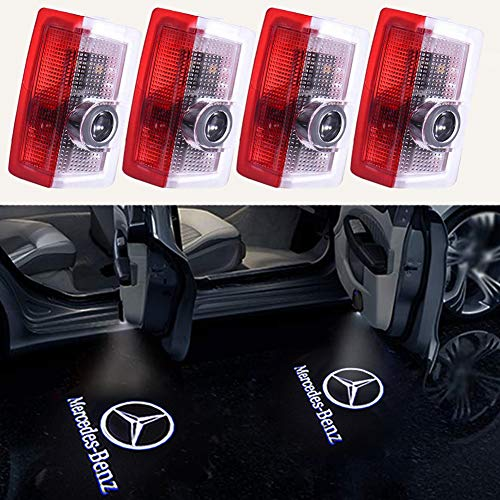 2017 Mercedes Benz S500 - 4PCS Benz Door Light LED Projector Benz Logo Welcome Lights Car Ghost Shadow Light Lamp Wireless for Benz E-class w212 C-class w205 A-class w176 B-class w246 (4 Pack)