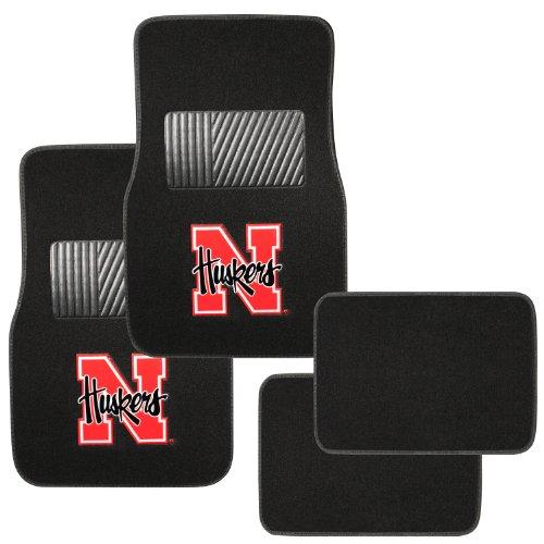 - Pilot Alumni Group FM-901 Universal Fit Four Piece Floor Mat Set (Collegiate Nebraska Cornhuskers)
