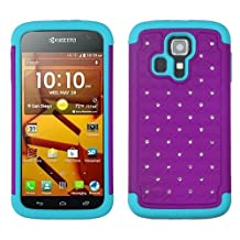 MyBat FullStar Protector Cover for KYOCERA C6730 Hydro Icon - Retail Packaging - Purple/Tropical Teal