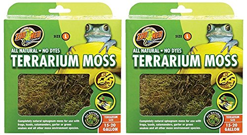 Zoo Med 2 Pack of Terrarium Moss, Large, 15 - 20 Gallon Per Pack