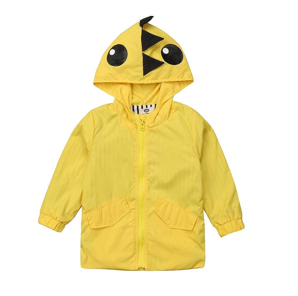 Karuedoo Kids Boy Girl Dinosaur Raincoat Cute Jacket Hooded Outwear Baby Fall Winter School Oufits