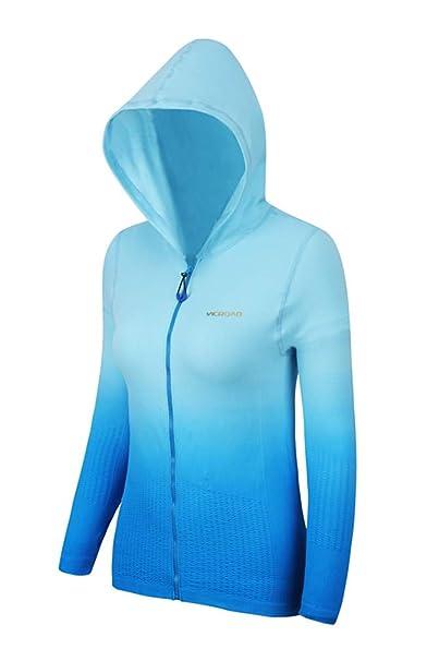 Felpa Sportiva da Donna a Maniche Lunghe con Cappuccio Yoga Running Zipper  Jacket Slim Fit Fashion Training Coat  Amazon.it  Abbigliamento ee5d3b79d60