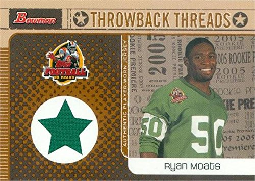 Philadelphia Eagles Autographed Throwback Jersey - Autograph Warehouse 343148 Ryan Moats Player Worn Jersey Patch Football Card - Philadelphia Eagles 2005 Topps Throwback Threads No. BRTRM Rookie
