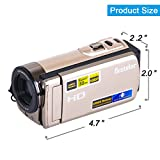 Camcorder, Besteker Video Camcorder 1080P 20MP HDMI Output 16X Digital Zoom Camera Camcorder Support 3.0 LCD Screen (601S Glod)