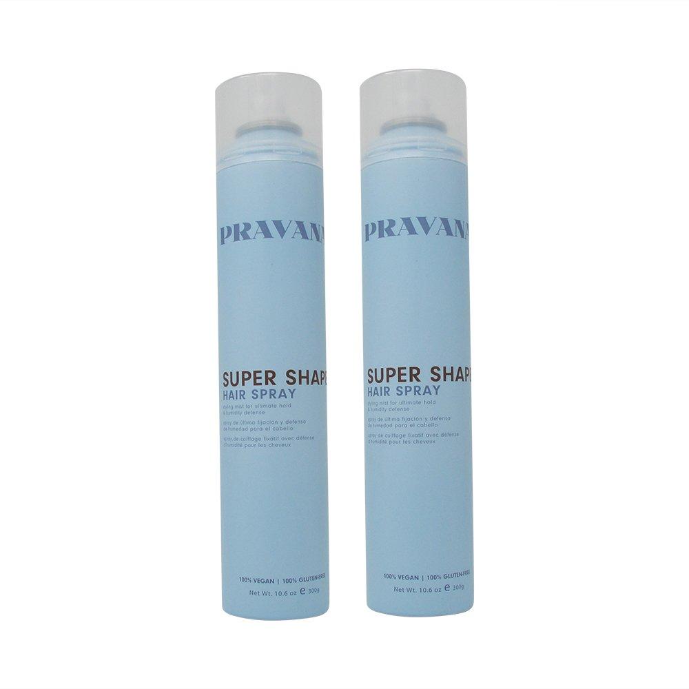 Bundle-2 Items : Pravana Super Shape Hair Spray (Pack of 2) by Pravana
