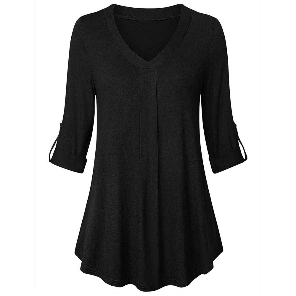 Voicry ❤ Women Button Long Sleeve Sweater Sweatshirt Pullover Tops Blouse Shirt