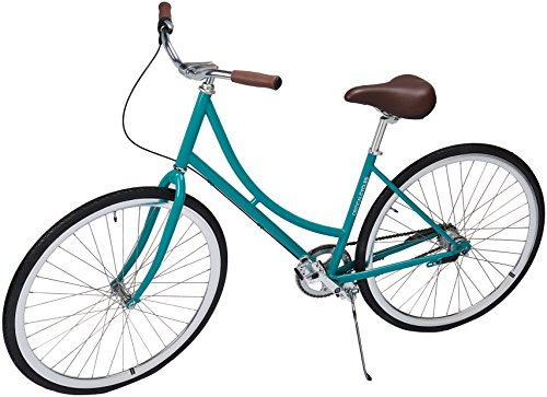 Through Hub - Critical Cycles Dutch Step-Thru 3-Speed City Coaster Commuter Bicycle, Turquoise, 44cm/One Size