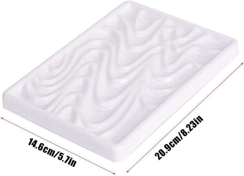 Scatola per tavolozza per acquerelli quadrata in ceramica imitazione ondulata per artista Scatola per tavolozza per pittura per acquerelli Pittura per acquerelli per pittura ad olio e color Tavolozza