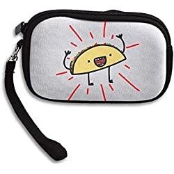 Happy Taco Zero Wallet Coins Change Purse Clutch Zipper Zero Wallet Phone Gift