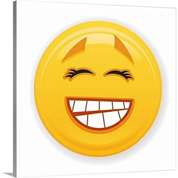 amazon com greatbigcanvas gallery wrapped canvas entitled grinning
