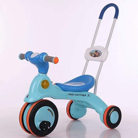 MEILA Bebé para niños con Luces de música Triciclo Deslizante Suave Bicicleta 2-6 años Pedal