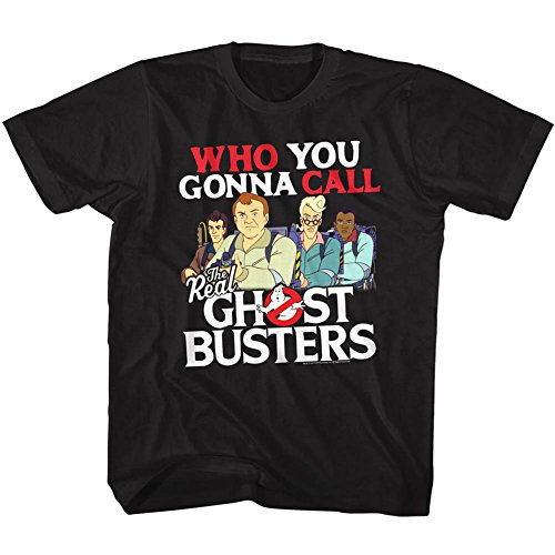 American Classics The Real Ghostbusters TV Series Call Em Black Toddler Little Boys T-Shirt -