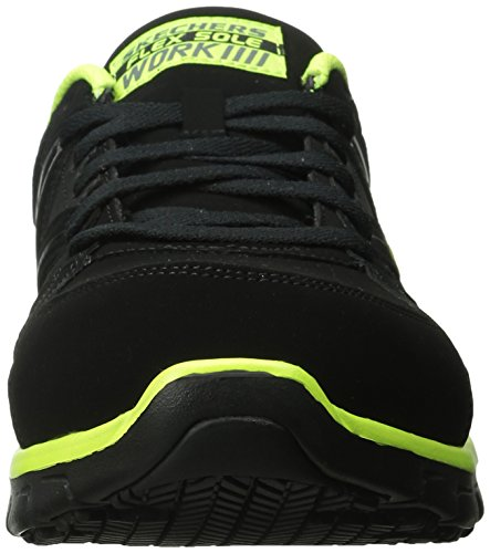Skechers for Work Men's Synergy Ekron Work Shoe,Black/Lime,11 W US by Skechers (Image #4)