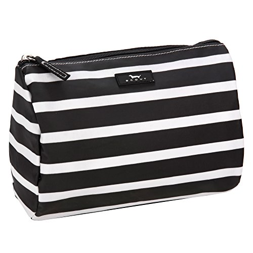 SCOUT Packin' Heat Makeup & Cosmetic, Accessory or Toiletry Bag, Interior Pocket, Water Resistant, Zips Closed, Fleetwood Black