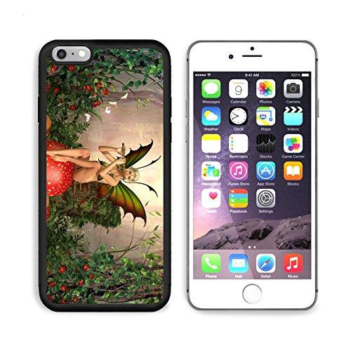 - Luxlady Apple iPhone 6 Plus iPhone 6S Plus Aluminum Backplate Bumper Snap iphone6plus/6splus Case ID: 39833396 Elven beautiful woman in fairytale forest sits on a mushroom and plays on flut