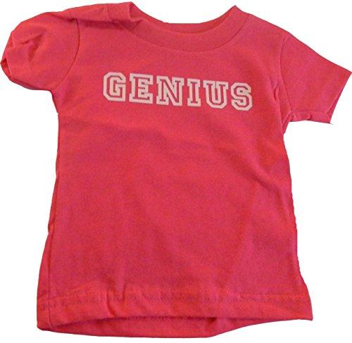 Custom Kingdom Girls Genius T-Shirt (18 Months, Pink)