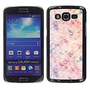 Be Good Phone Accessory // Dura Cáscara cubierta Protectora Caso Carcasa Funda de Protección para Samsung Galaxy Grand 2 SM-G7102 SM-G7105 // Orange Purple Red Abstract Pattern