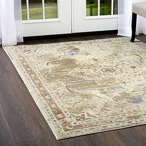 Home Dynamix Shabby Chic Pastel Essence Area Rug, Cotton Blend  7'10